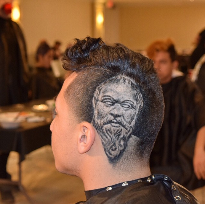This barber can shave the face of any celebrity you want into your awesome hair designs urmus Gallery