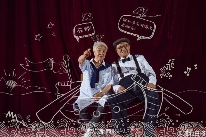Awesome old people anniversary photo shoot