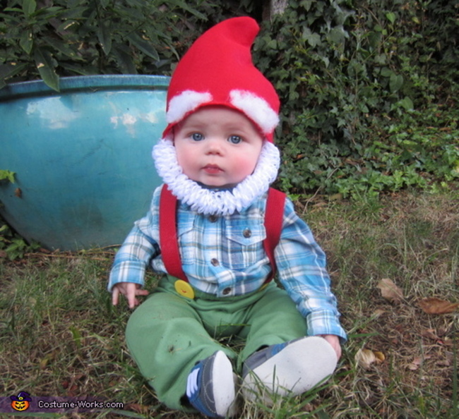 baby halloween costume lawn gnome