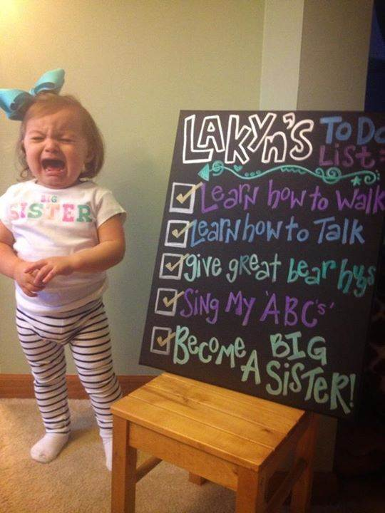 Baby on the way for sibling humor