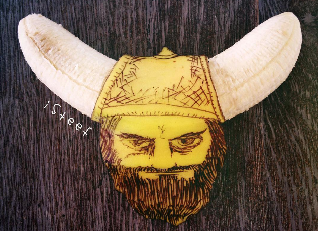 Banana Viking Art