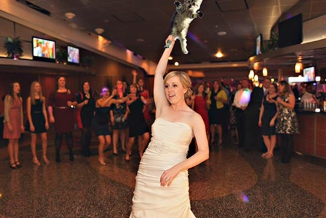 Bride Throws A Cat Instead Of Bouquet
