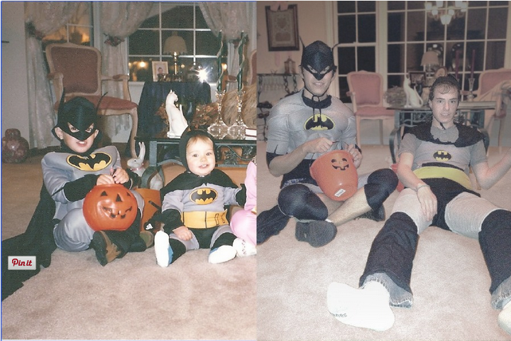 Brothers Grow Up - Recreate Halloween Costumes - Batman