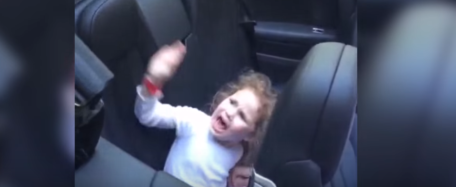 Dad Convinces Daughter Their Car Is Going To Eat Her