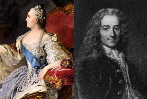 Catherine The Great And Voltaire