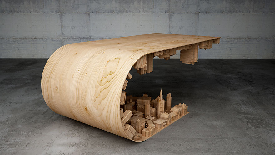 Coffee table design for inception