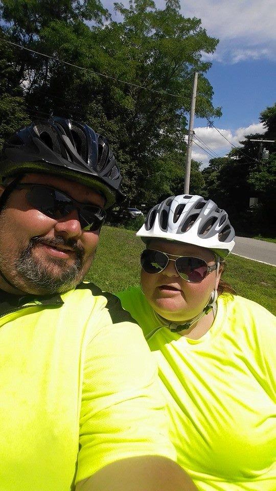 Couple bike across america for health and love