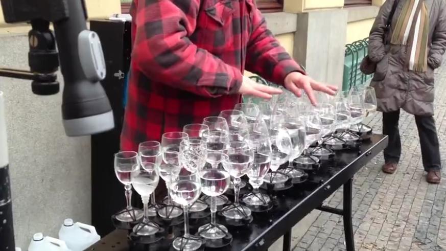 Crazy Wine Glass Instrumental Skills