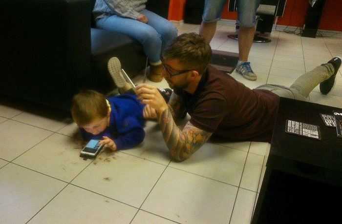 Cutting an autistic boys haircut