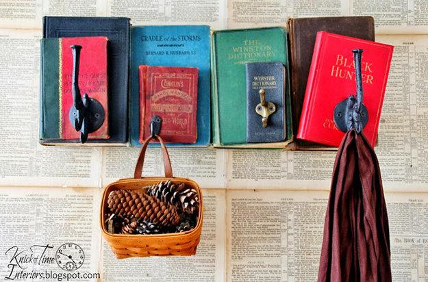 coat rack from books