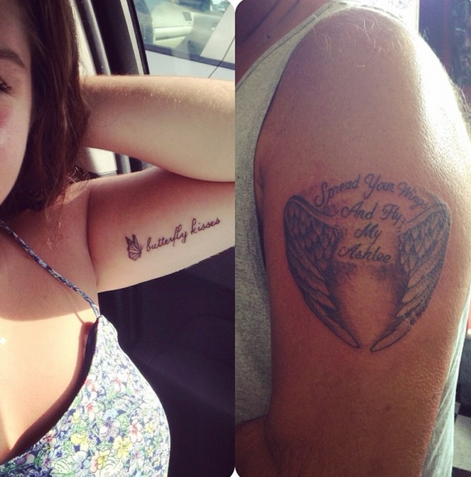 Dad And His Daughter Get Matching Tattoos