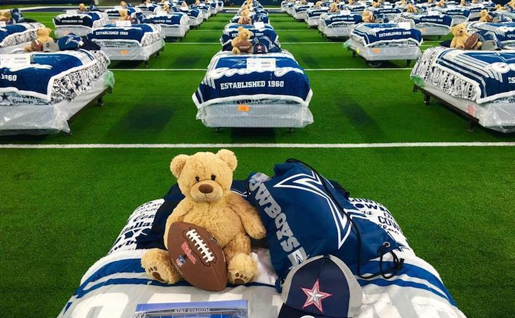 Dallas Cowboys beds for kids who need them