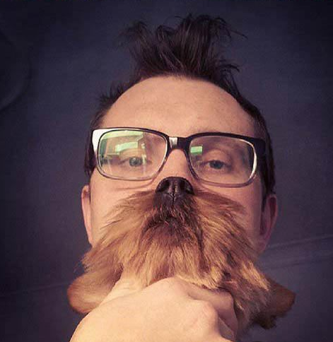 Dog Beard Selfie