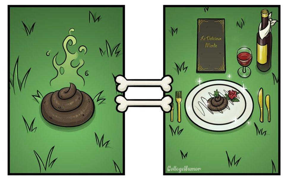 Dog Poop and Food Perception