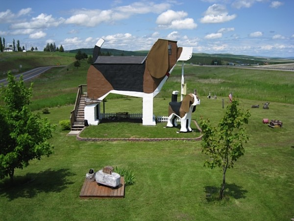 Dog Themes Bed and Breakfast - Giant Dog Shaped Homes
