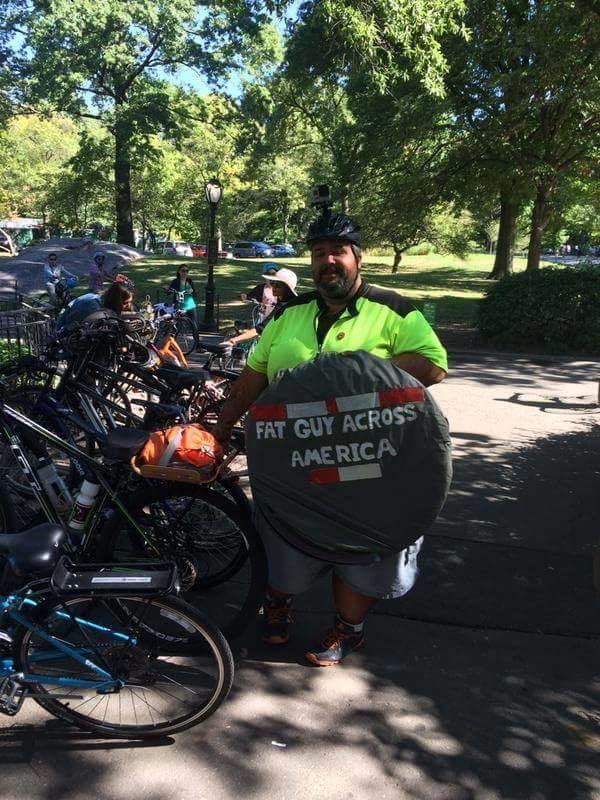 Fat Guy biking across America
