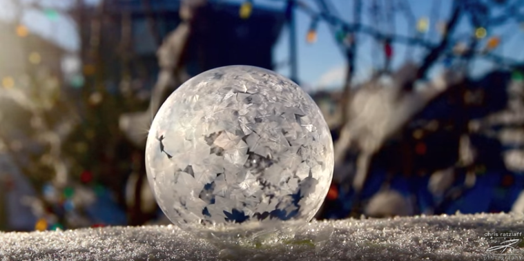 Freezing A Bubble