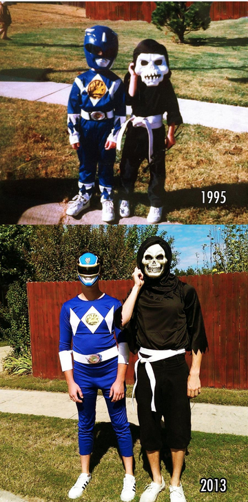 From Child to Adult - Same Halloween Costume