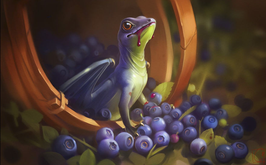 Blueberry Dragon