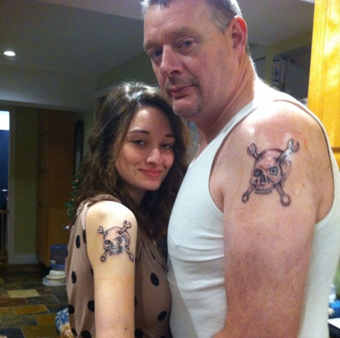 Happy Fathers Day - Matching Tattoos for Dad and Daughter