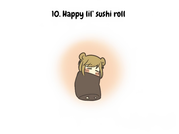 Happy little sushi roll
