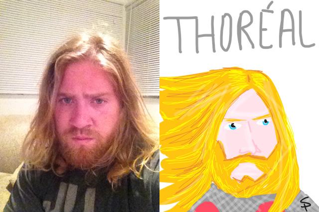 Hilarious Cartoon Selfie Creation