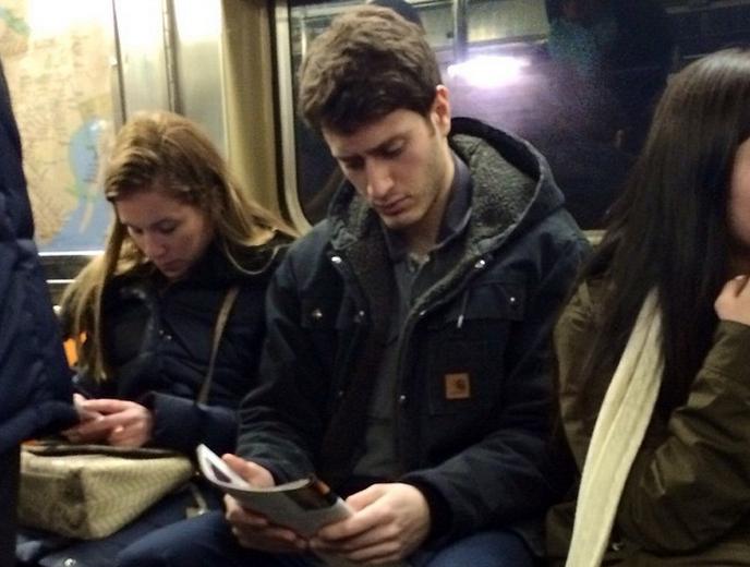 Hot guys reading books