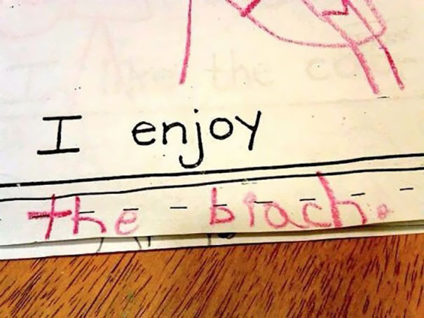 Kid Accidentally Spells Something Dirty