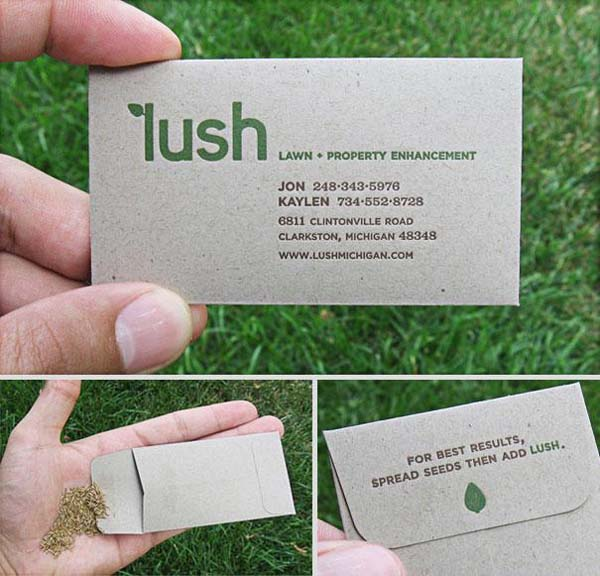 business cards for lawn service