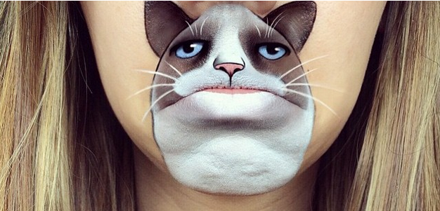 Lip Art Featuring Grumpy Cat