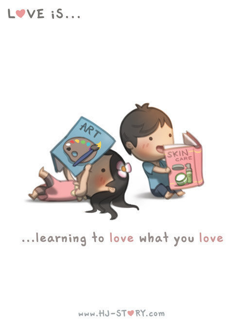 Love is learning what makes your partner happy