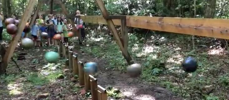 Massive bowling ball pendulum