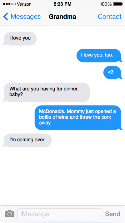 Mcdonalds for dinner - If Toddlers Could Text