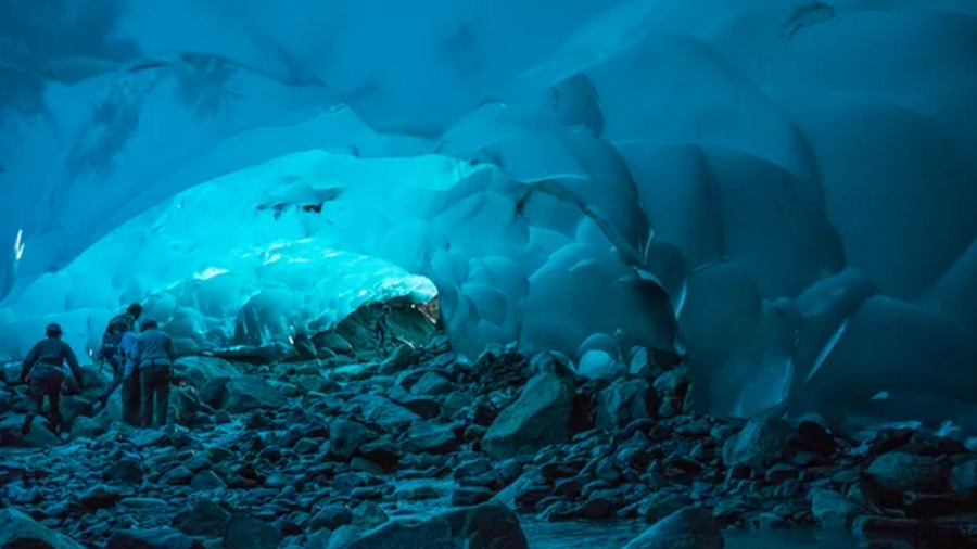 Mendenhall Ice Caves of Juneau in Alaska United States.jpg