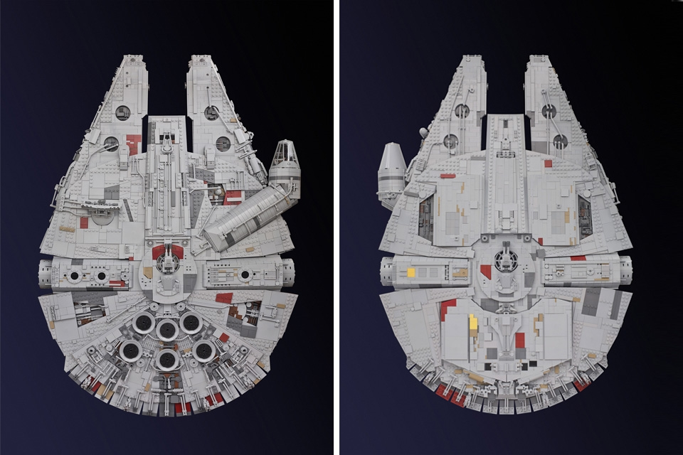 Millenium Falcon made out of LEGOS