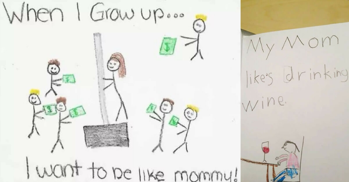 Oops! These Kids Accidentally Revealed Their Parents' Secrets With Their Hilarious Drawings - Page 10 of 41