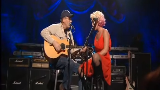 Pink and dad duet