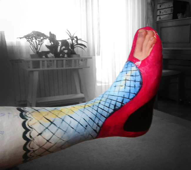 Red High Heel Cast