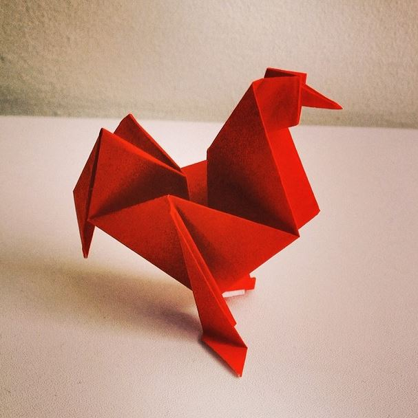 Red Rooster Origami