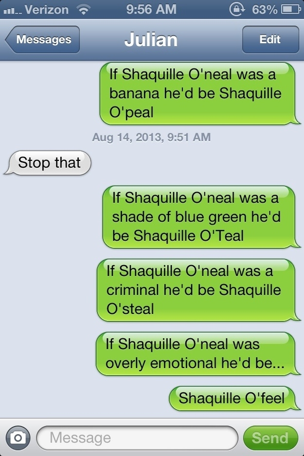 Shaquille ONeal Puns