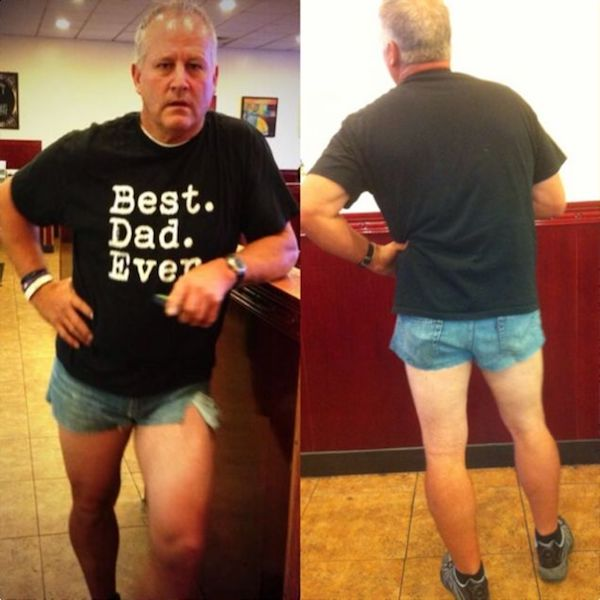This Dad Wore Short Shorts To Prove A Point