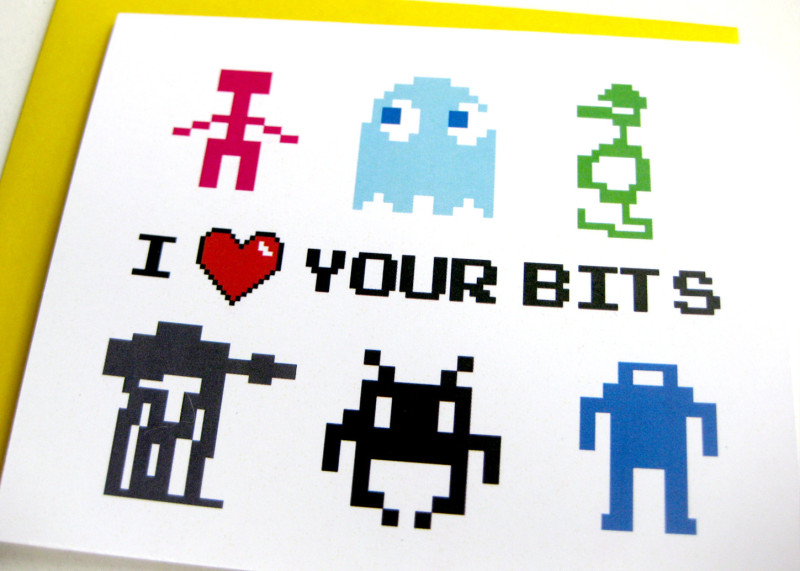 Silly 8-Bit Valentines Day Card