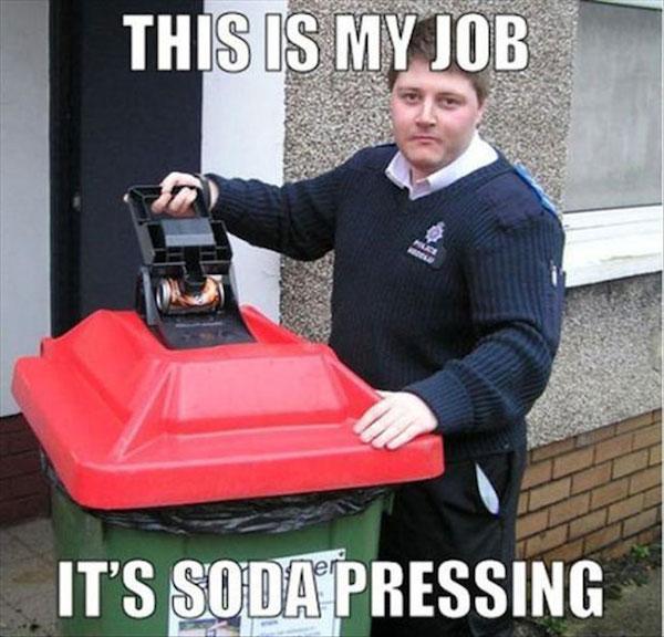 Soda Pressing Pun