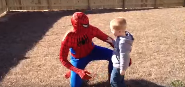 Spider-Man dad returns from combat