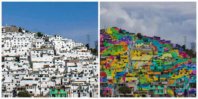 The Whole Town Gets Repainted In Vibrant Graffiti, Palmitas, Mexico.jpg