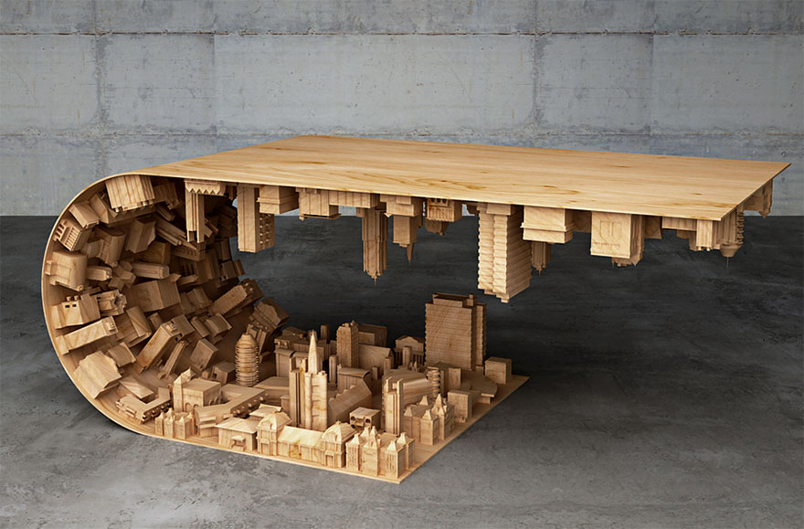 The inception coffee table