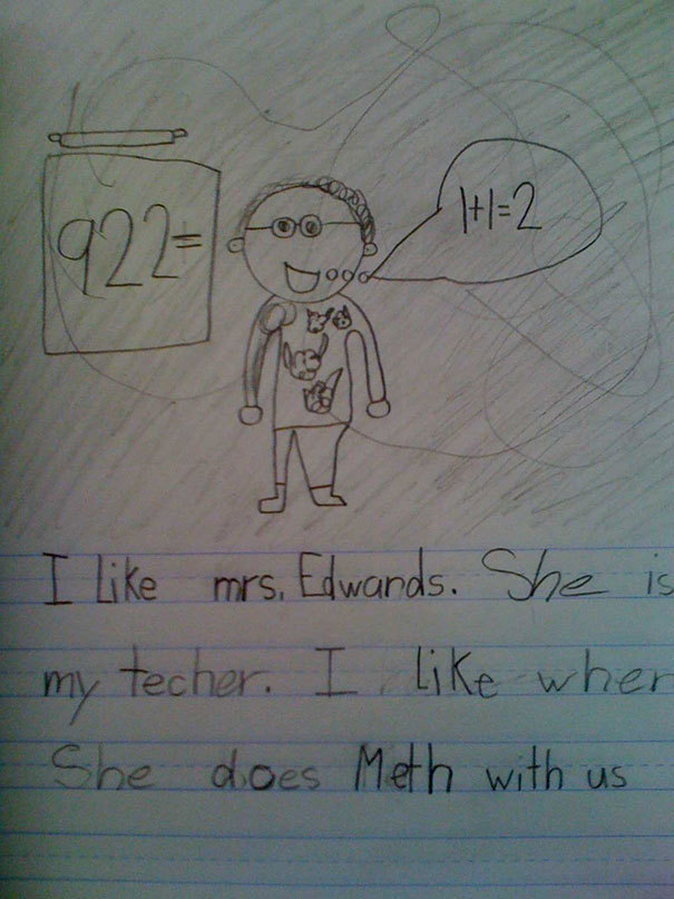 This Kid Was Not Trying to Be Dirty with their writing