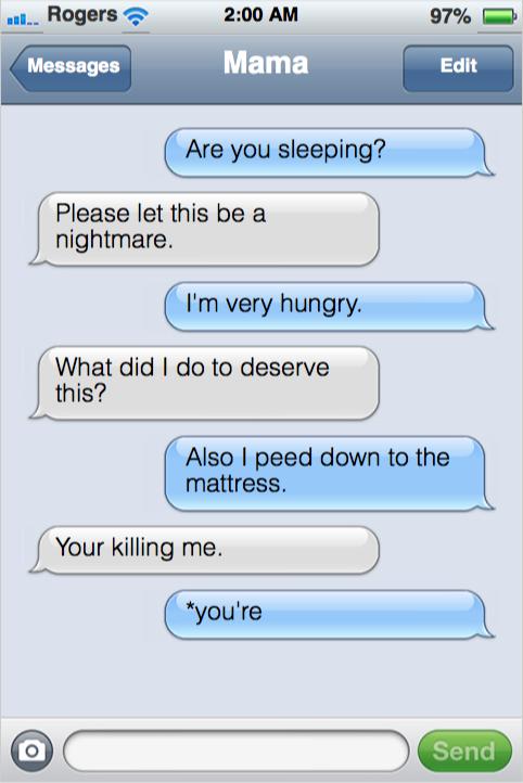 Toddler Text Messaging