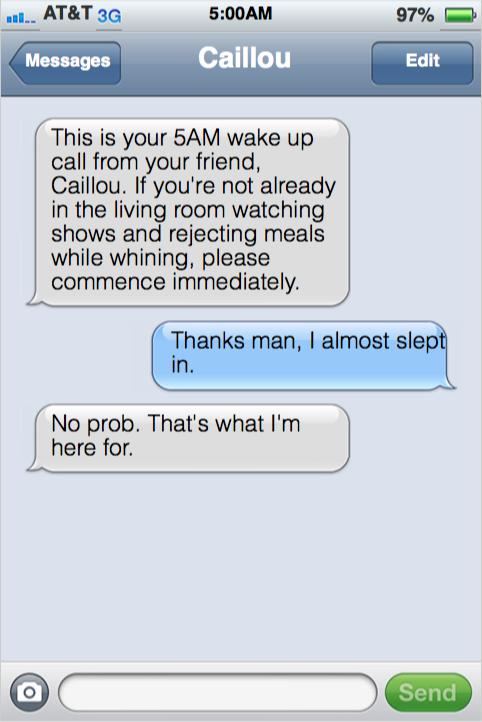 Toddler Texting Wake Up Call