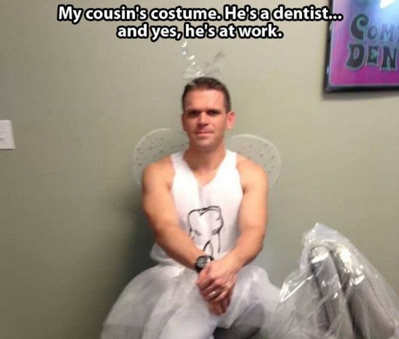 This Dentist Dressed Like The Tooth Fairy